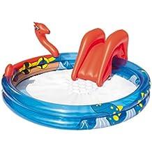 Bestway Aire De Jeux Vikings Toboggan gonflable + jet d'eau avec raccordement tuyau d'arrosage 203 x 165 x 73 cm