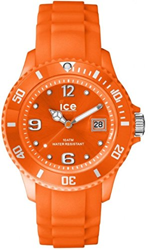 ICE-Watch SI.NOE.U.S.14 Ice-Forever Fashion Neon Orange Unisex Analogue Quartz Watch with Orange Dial and Orange Silicone Strap