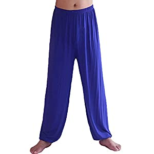 DianShao Herren Yogahose Super Weiches Pumphose Harem Pilates Hosen Trainingshose Freizeithose