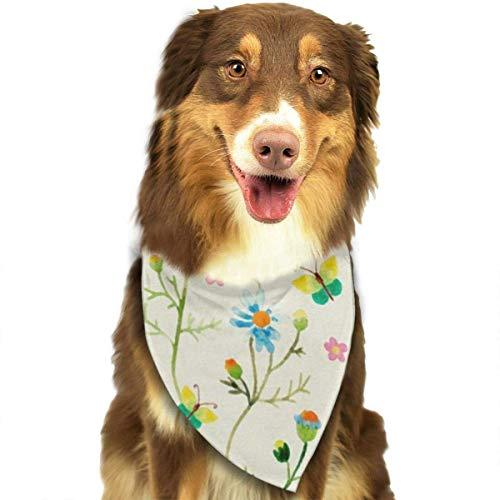 Verkauf Mops Zum Kostüm - deyhfef Watercolor-Flowers Pet Dog Bandanas Triangle Bib Scarf Accessories for Dogs, Cats, Pets Animals