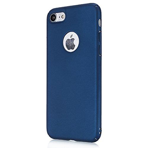 iphone 7 plus 4.7 Custodia, iphone 8 plus Silicone Cover, Ekakashop Moda Lusso Vernice Smooth Feel Rigida Vintage Cassa del telefono per iphone 7 plus 3d Gel Silicone Gomma Cover, Puro colore Traspare PC-Profondo blu