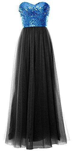 MACloth - Robe - Trapèze - Sans Manche - Femme bleu/noir