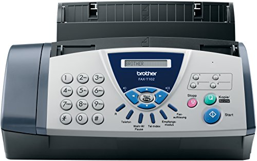Preisvergleich Produktbild Brother FAX-T102 Thermo Transfer Faxgerät, grau