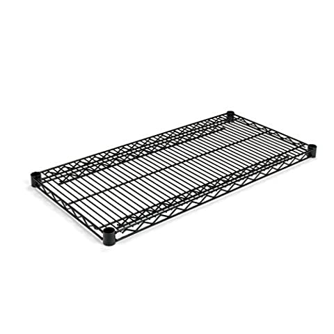 Alera SW583618BL Industrial Wire Shelving Extra Wire Shelves, 36w x 18d, Black, 2 Shelves/Carton