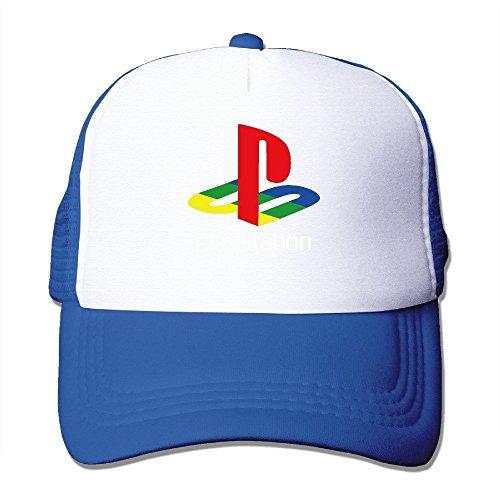 hittings-cool-playstation-trucker-mesh-baseball-cap-hat-royalblue