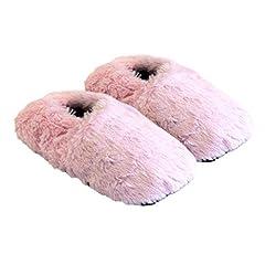 Idea Regalo - Thermo Sox pantofole riscaldabili ciabatte con semi per microonde e forno misura M / EU36-40 rosa - pantofole per microonde ciabatte calde Scaldapiedi