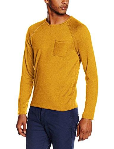 Marc O'Polo 627504860638, Felpa Uomo, Orange (Mustard Melange 259), L