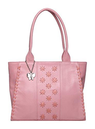 Butterflies Women Hand Bag (Baby Pink) (BNS 0617BPK)