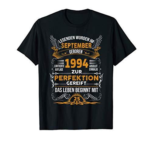 Geschenk Zum 25 Shirt, Geburtstag Jahrgang 1994 September -