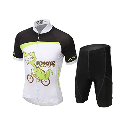 LPATTERN Niños Niñas Traje Ciclismo Conjunto Maillot