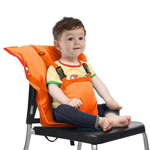 Chunse Baby-Aufladungssitz, Tragbare Hochstuhl-Reisesitz-Abdeckung, Kleinkind-Sicherheits-Säuglingsack-Gurt,Orange