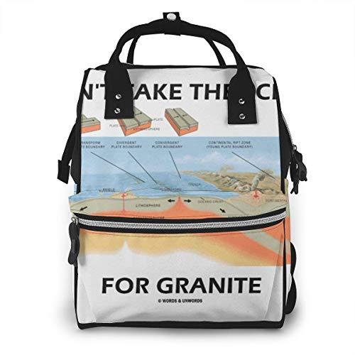 Nehmen Sie nicht den Schiefer für Granit-Windel-Rucksack-große Kapazitäts-Baby-Beutel-Multifunktionsreißverschluss-beiläufige Spielraum-Rucksäcke für Mamma-Vati Unisex -