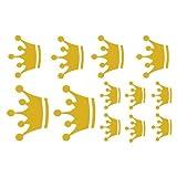 plot4u Wandtattoo Kronen Set Wandsticker in 9 Größen und 25 Farben (30x20cm goldmetalleffekt)