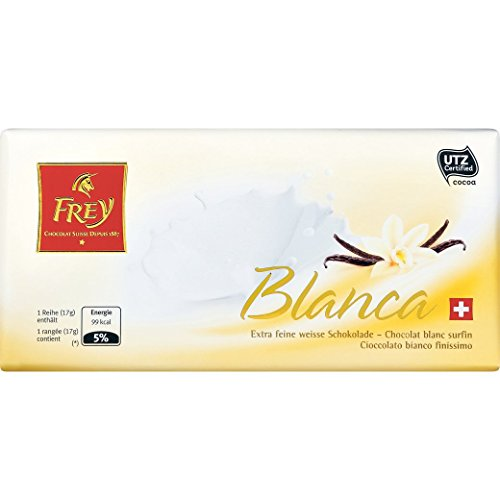 Schokolade - Weisse Tafelschokolade - 'Frey Blanca' von Chocolat Frey Schweiz - 100g, aus dem Traditionshaus Frey