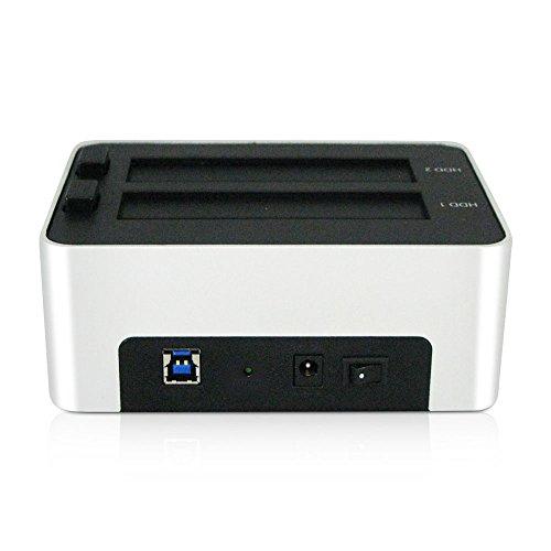 Archgon MH-3623 USB 3.0 2.5 inch und 3.5 inch SATA Festplatten Dual-Bay Docking Station mit Aluminum Gehäuse mit Off-line Clone- und Erase-Funktion, unterstützt bis zu 6TB