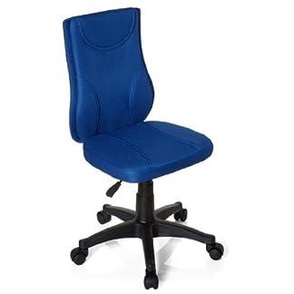 Hjh OFFICE 670430 Silla para niños KIDDY BASE tejido de malla azul silla escritorio