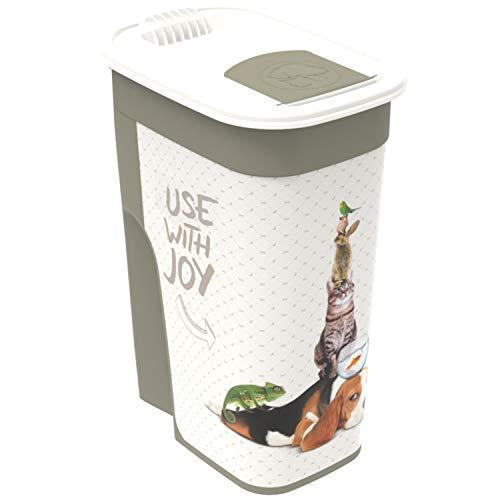 Rotho Flo Tierfutterbehälter 4.1 l, Kunststoff (PP), cappuccino mit Motiv
