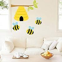 BRILLINT.YY Nursery Wall Sticker Cute Bee Plant Wall Decals Honey Bee Kids Room Nursery Room Modern Home Decor Pvc Stickers