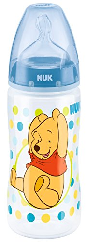 NUK First Choice Plus Winnie the Pooh Silicone Teat Bottle (300 ml, 0-6 Months) 412jIfI9hZL