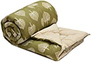 COZY FURNISH® Microfiber Filled - Duvet/Rajai/AC Comforter/Special Quilt for All Seasons - Printed Reversible