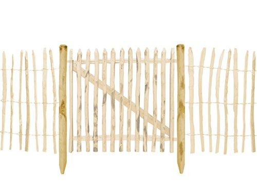 BOOGARDI Zaun-Pfosten Haselnuss · Viele Größen · Zaun-Pfahl für Ihren Staketenzaun / Bauernzaun / Kastanienzaun