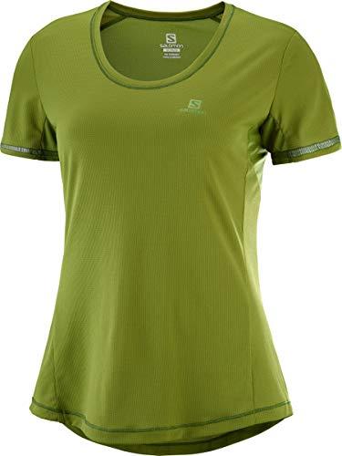Shirt Sport FemmeAgile À Tee WMélange De Manches Ss SalomonT Courtes SynthétiqueVertavocadoTailleXsLc1070100 Pour TKF1lJc