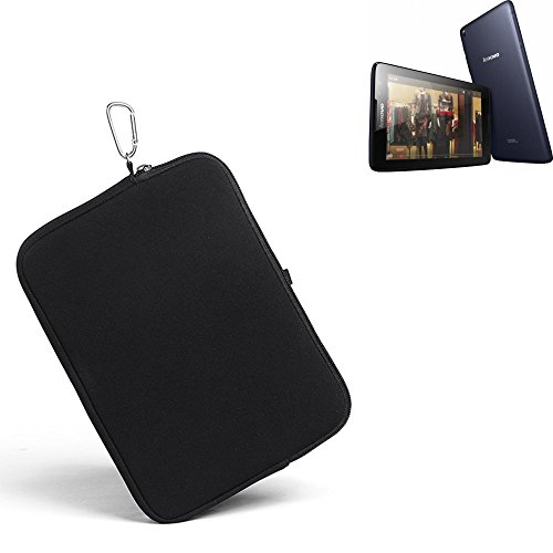 K-S-Trade® für Lenovo IdeaTab A8-50 3G Neopren Hülle Schutzhülle Neoprenhülle Tablethülle Tabletcase Tablet Schutz Gürtel Tasche Case Sleeve Business schwarz für Lenovo IdeaTab A8-50 3G