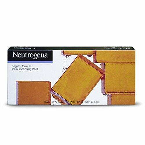 Neutrogena Transparent Facial Bar Bonus Pack, Original Formula - 6 ea, 3.5 oz each, total 21 oz by Neutrogena