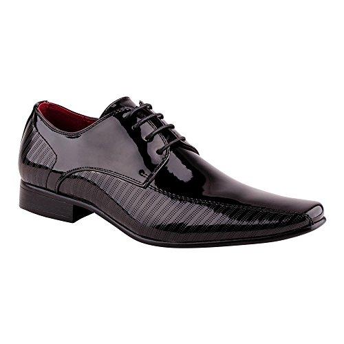 Herren Business Schnürer Halbschuhe Anzug Tanz Lack Schuhe