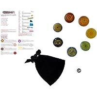 Trimontium 7 Chakra Symbole Edelstein-Set im Beutel mit Chakrainformation preisvergleich bei billige-tabletten.eu