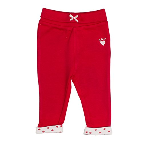 SALT AND PEPPER Baby-Mädchen Leggings NB Leggins Schatz Uni Rot (Lipstick Red 335) 68
