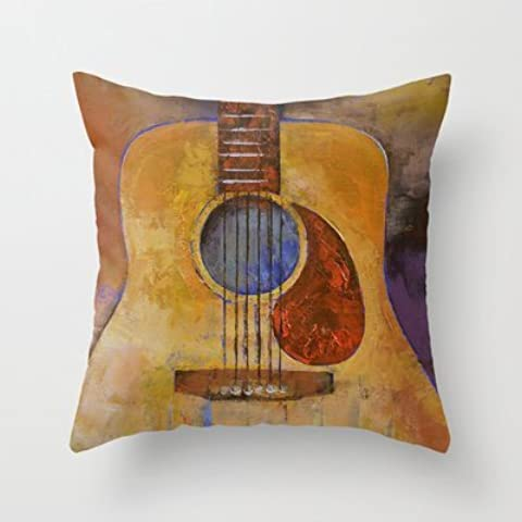 B Lyster shop Acoustic Guitar #165W Cotton & Polyester Soft Zippered Cushion Throw Case Pillow Case Cover