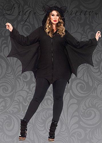 8in1 Damen Plus Größe Halloween schwarz Gothic Fledermaus Kostüm 3X/4X (UK 20-22)