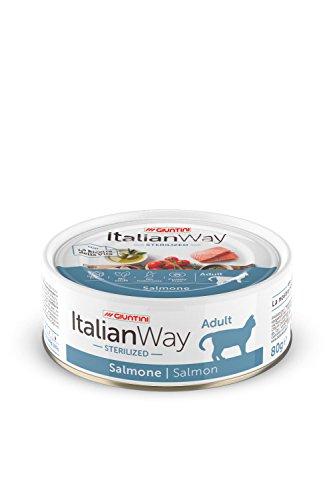 Giuntini Italian Way Bocconcini per Gatti Sterilizzati - ricetta Ipoallergenica al Salmone - Adult - 80 gr