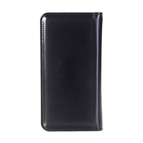 iPhone Case Cover 2 en 1 pour iPhone 7 Plus Horizontale Flip étui en cuir avec séparable magnétique Back Cover Shell & Crad Slots & Wallet & Cadre photo ( Color : Black ) Black