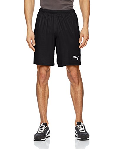 Puma Herren Liga Shorts Core with Brief Kurze Hose, Black White, XXL
