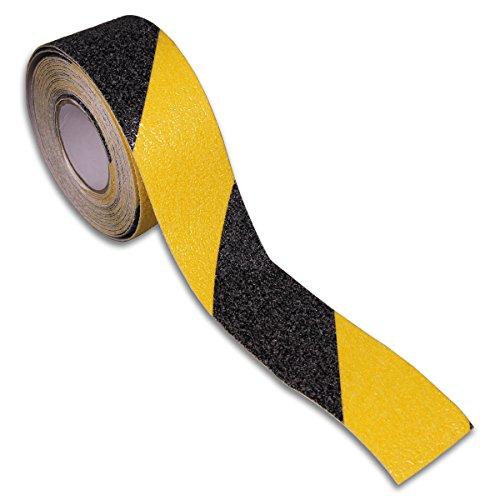 BRINOX b61310a-Klebeband Rutschfest (40mm x 5m) schwarz/gelb