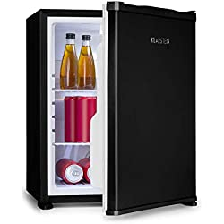 Klarstein Nagano M Mini réfrigérateur - capacité 44L, réfrigération de 0-8°C, 0dB, silencieux, hauteur 56 cm, noFrost, dégivrage automatique, 2 tablettes, 3 compartiments porte, noir