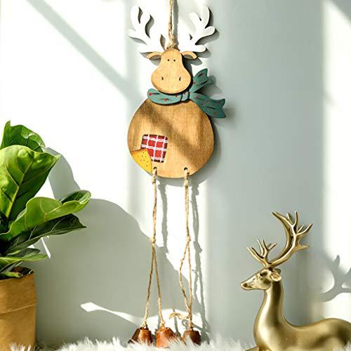 Ornamenti per Albero di Natale Ciondolo Appeso Alce Renne Oro Jingle Bell Ciondoli Regalo di Natale Decor Addobbi Personalizzate Decorazione Dell'Albero di Natale di Regalo Partico