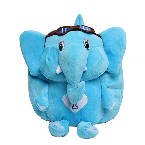 Wicemoon. Linda Mochila para niños Mini Elefante Bolsa para la Escuela Mochilas Infantiles Bolso del Cabrito Azul
