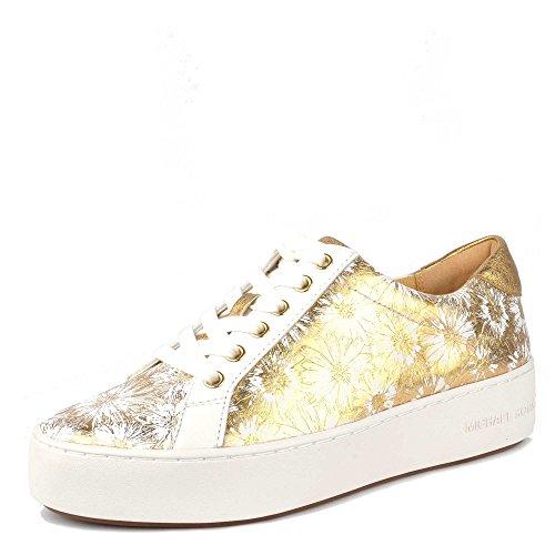 Michael by Michael Kors Schuhe Poppy Sneaker Weib und Gold Damen Optic White - Michael Kors Boots