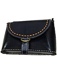 Asian Roots Women's Handbag, Material- Synthetic Leather, Colour-Black (AR-017)