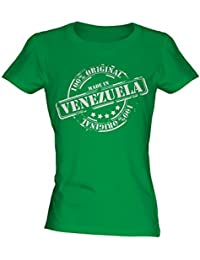 Made In Venezuela - Ladies Fitted T-Shirt T Shirt Tee Top