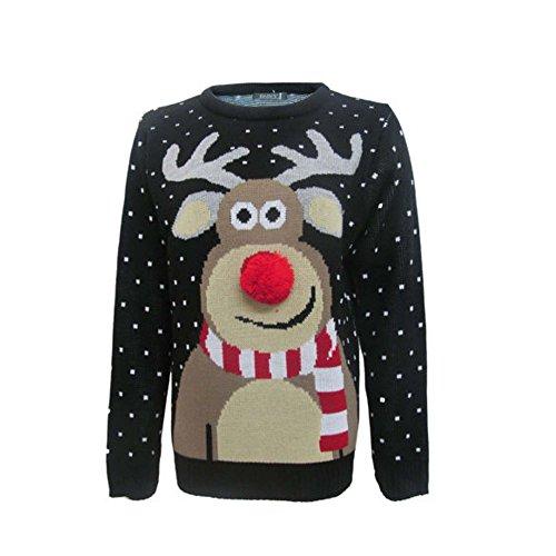 Weihnachtspullover für Damen und Herren, 70er-Jahre-Vintage-Design -