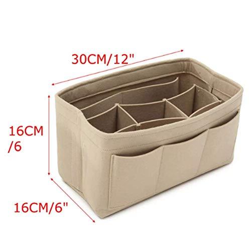 DyNamic Red/Creamy White Handbag Organizer Makeup Purse Insert Bag Multipocket Liner Tote - #1