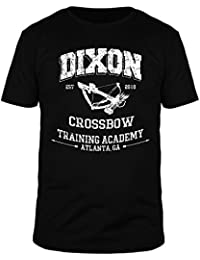 FabTee Dixon Crossbow Training Academy - Men Organic Cotton T-Shirt - Size S-3XL