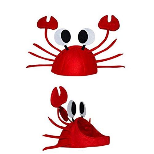 Glücklich Weihnachten Weihnachten Lustige Nette Rote Krabbenhut Party Kostüm Geschenk (Rot) (Einfach Weihnachten Kostüm)