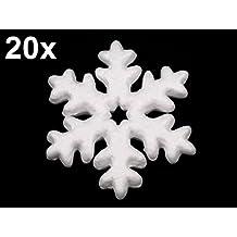 Styropor Formen , Kugel , Glocke , Kegel , Schneeflocke , Herz - wählbar - verschiedene Set kombinationen (20x Schneeflocke D 10cm)