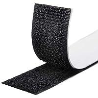GOLDG 40PCS Klettband selbstklebend Schwarz 30x100mm Klettband Extra Stark Haftkraft Selbstklebend Flauschband Hakenband Langfristige Lebensdauere klebend