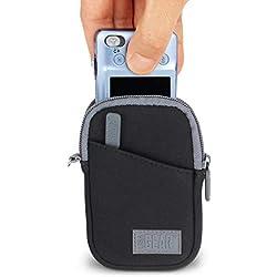 USA Gear gear-glov-blk Boitier Compact Noir, Gris Étui pour appareil photo-Étui (Sacoche compacte, universelle, Nikon Coolpix L29, L30, L27, S5300, S9500, S6700, S6900, S6800, P330., noir, gris)